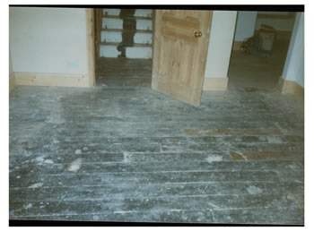 Floorboard stripping in Palmers Green. We sanded these existing floorboards and sealed with a varnish..