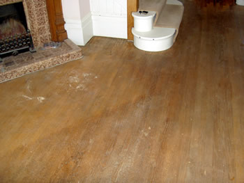 Wood floor stripping in Buckhurst Hill, Essex. We sanded and stripped this existing oak wood flooring..