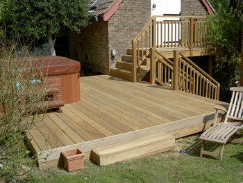 Wood decking, Much Hadham. Garden decking..