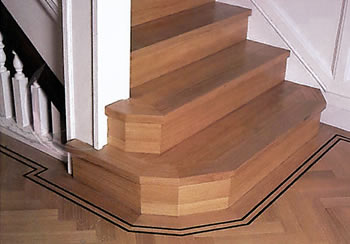 Oak Parquet Stair Wood Flooring